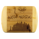 Engraved Housewarming Gift I Love NYC New York City NY Organic Bamboo Wood Cutting Board Gift