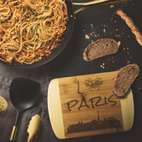 I Love Paris Bamboo Wood Cutting Board