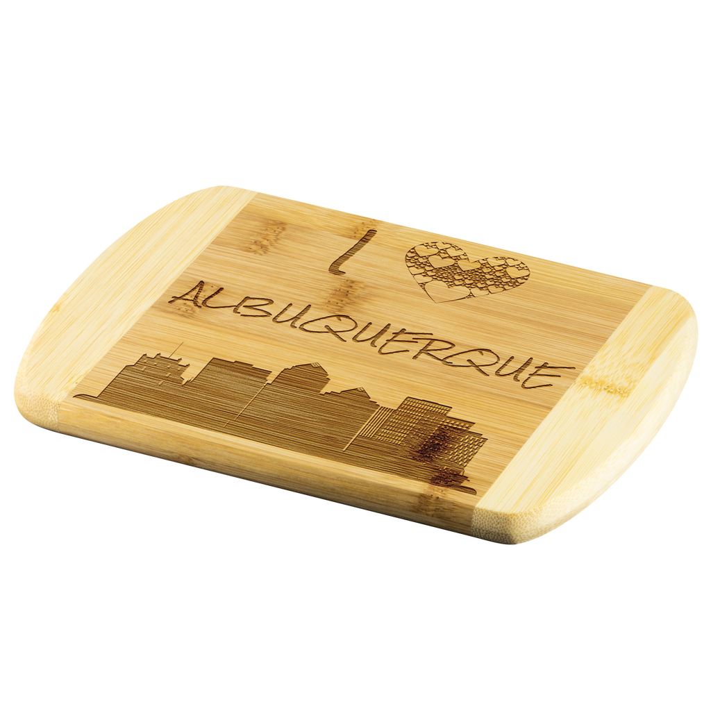 Engraved Housewarming Gift I Love Albuquerque Bamboo Wood Cutting Board Gift