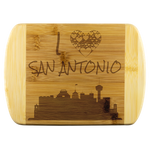 Engraved Housewarming Gift I Love San Antonio Texas TX Organic Bamboo Wood Cutting Board Gift