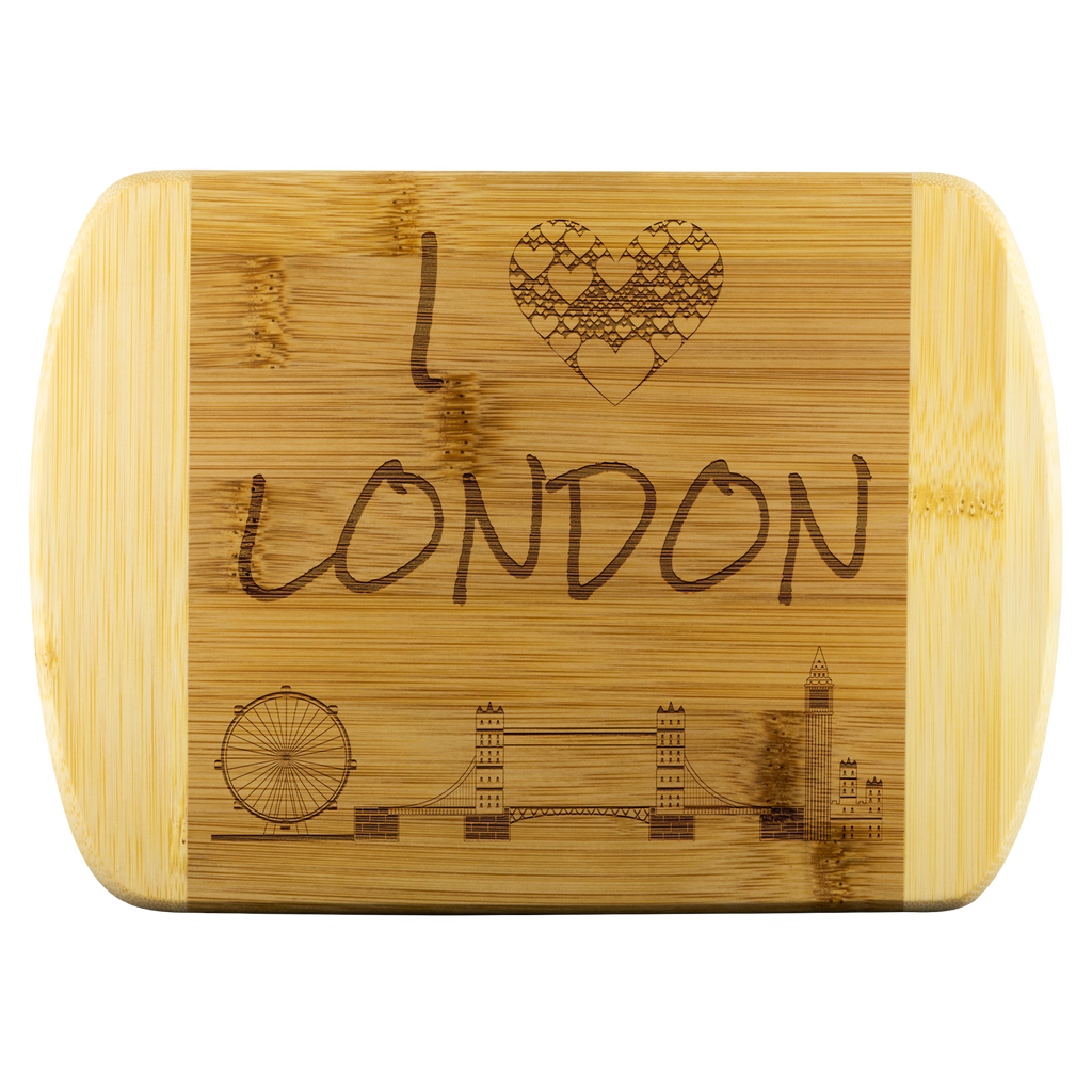 I Love London Bamboo Wood Cutting Board