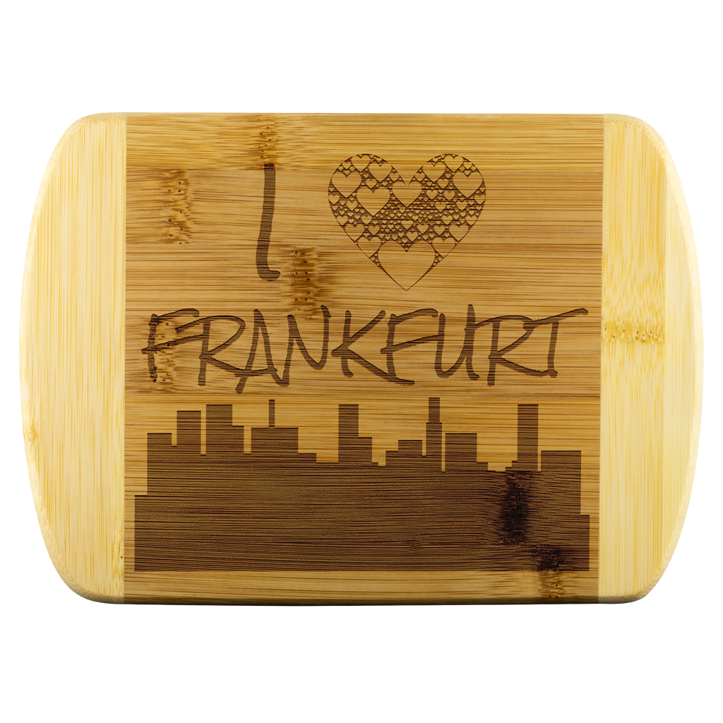I Love Frankfurt Bamboo Wood Cutting Board