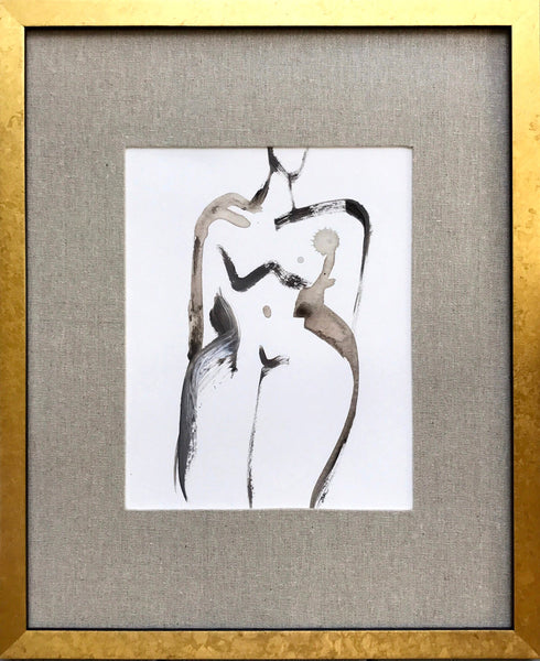 Figure in Linen Matted Frame