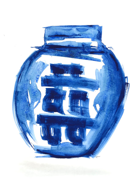 Indigo Happiness Jar 11x15