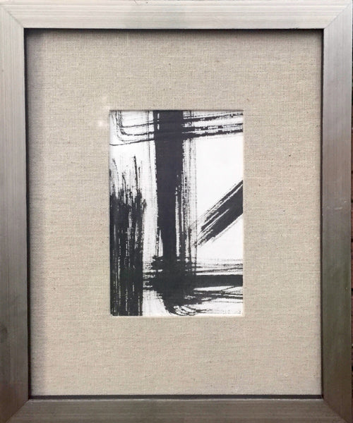 Abstract With Linen Mat