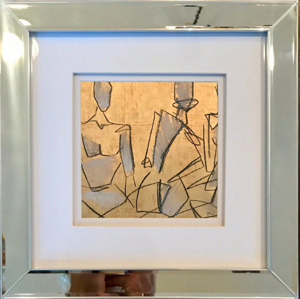 Figures In Mirror Frame