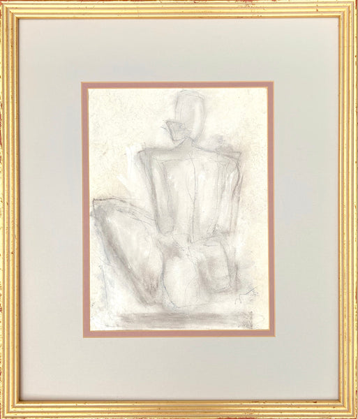 Talley II - HALEY MATHEWES FINE ART original abstract art landscape figure figures landscapes Charleston artist unframed framed lucite gold watercolor charcoal canvas contemporary modern affordable classic