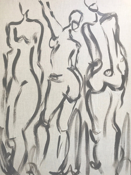 Figure Study on Linen Canvas