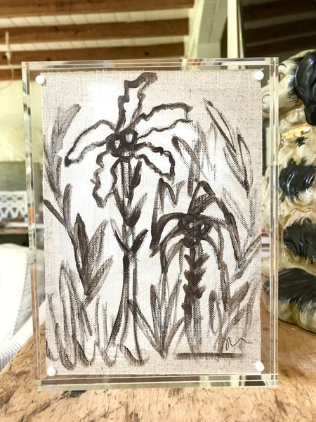 Chocolate Palms in 6x8 Lucite
