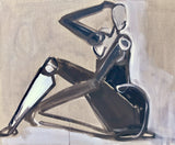 Paloma I Abstract Seated Figure
