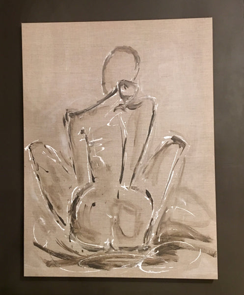 30x40 Figure Study On Canvas