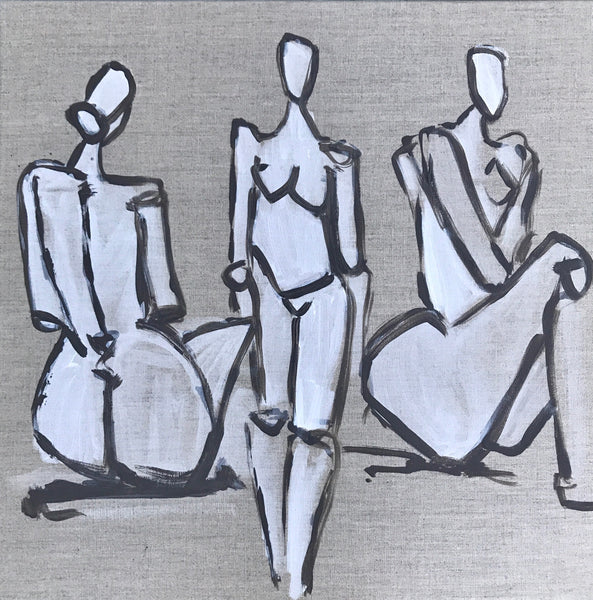 Figures on Linen Canvas