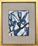 Abstract Figure Study II With Linen Mat