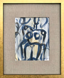 Abstract Figure Study I With Linen Mat