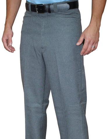 BBS380-Smitty Flat Front PLATE Pants - Heather Grey Only
