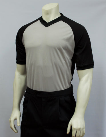 BKS207-Smitty Grey Performance Sleeve w/ Black Raglan Sleeve and Black Side Panel