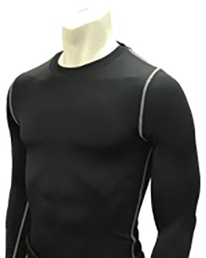 FBS417-Smitty Black Compression Long Sleeve Shirt