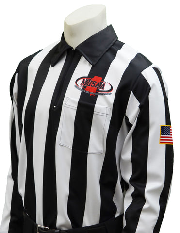 USA730MS- Dye Sub Mississippi Foul Weather Water Resistant Football Long Sleeve Shirt