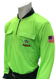 USA901AL- Dye Sub Alabama Soccer Long Sleeve Shirt Available In Orange and Green