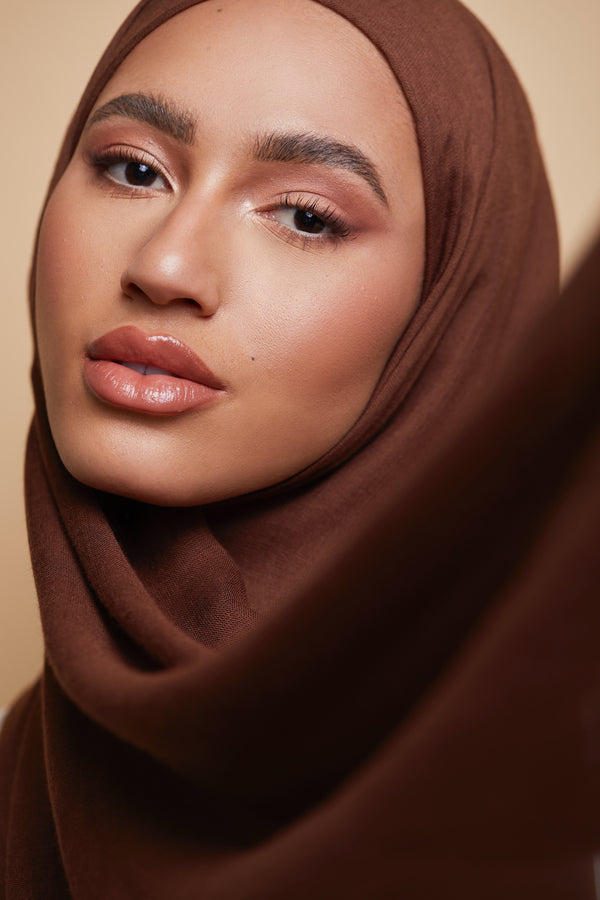 Breathable Modal Hijab - Chestnut