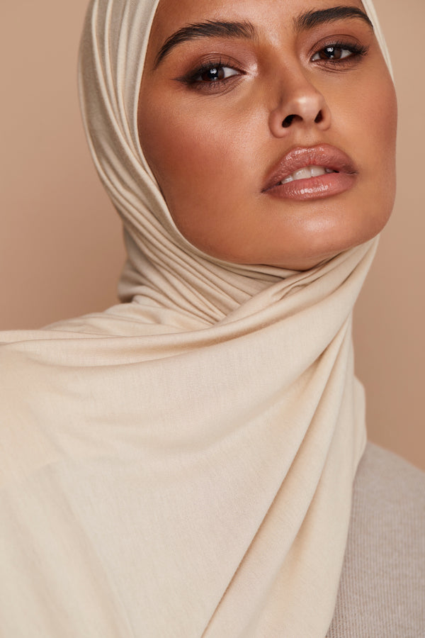Butter Cream Premium Jersey Hijab | VOILE CHIC | Jersey Hijab