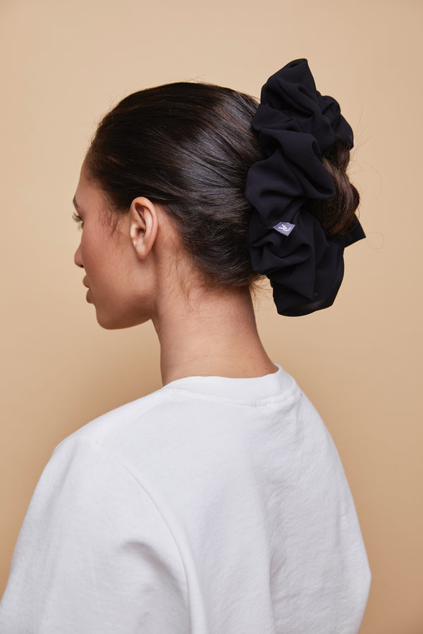 Chiffon Shaping Scrunchie - Black