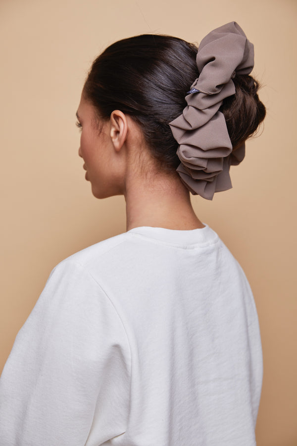 Chiffon Shaping Scrunchie - Neutral