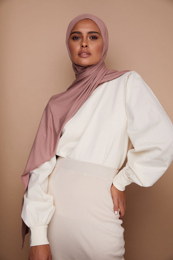 Dusty Rose Premium Jersey Hijab | VOILE CHIC | Jersey Hijab