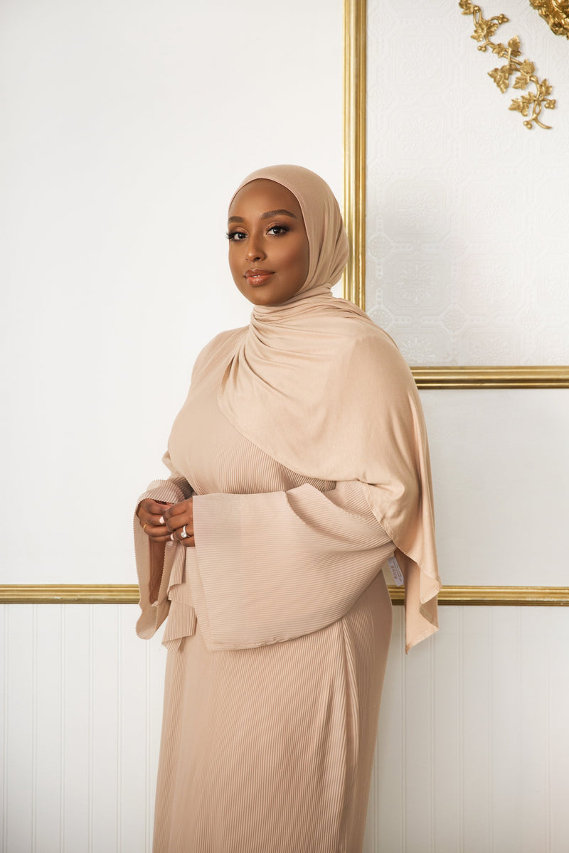 Warm Taupe Instant Hijab | VOILE CHIC | Pre-Sewn Instant