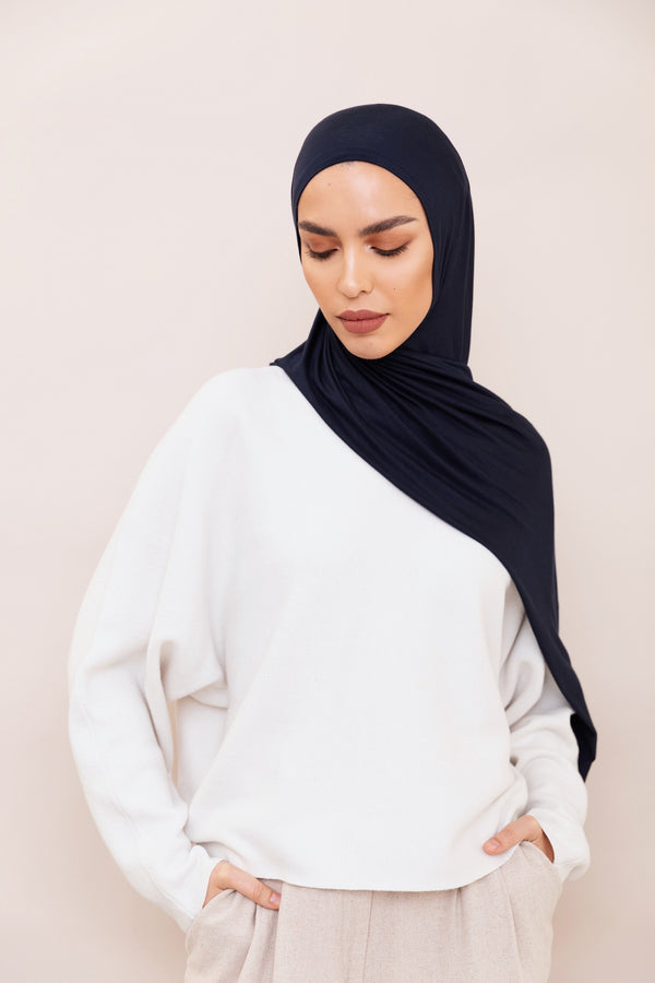 Navy Blue Instant Hijab | VOILE CHIC | Pre-Sewn Instant