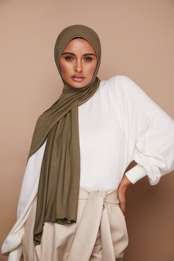 Olive Premium Jersey Hijab | VOILE CHIC | Jersey Hijab