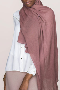 Crinkle Cotton Hijab - Russet