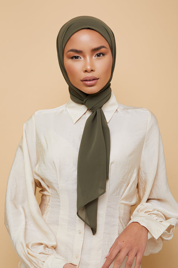 Small Luxury Chiffon Hijab - Rainforest