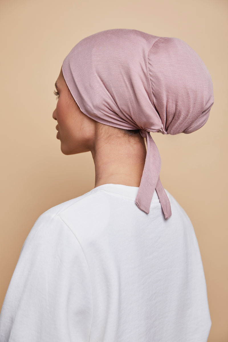 Satin-Lined Underscarf - Dusty Rose