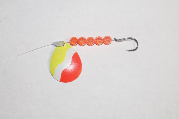 Bubblegum Colorado Spinner Rig (Double Hook Option)