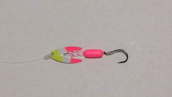 Bubblegum Dakota Spinner Rig (Double Hook Option)