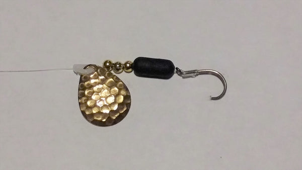 Hammered Brass Colorado Spinner Rig (Double Hook Option)