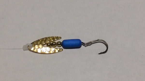 Hammered Brass Dakota Spinner Rig (Double Hook Option)