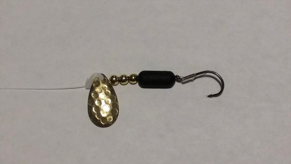 Hammered Brass Indiana Spinner Rig