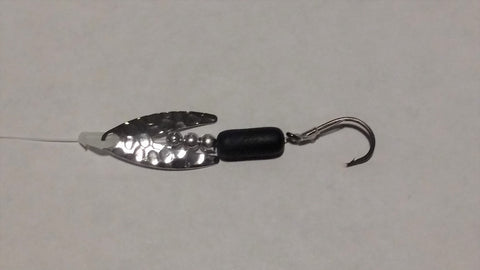 Hammered Nickel Dakota Spinner Rig (Double Hook Option)