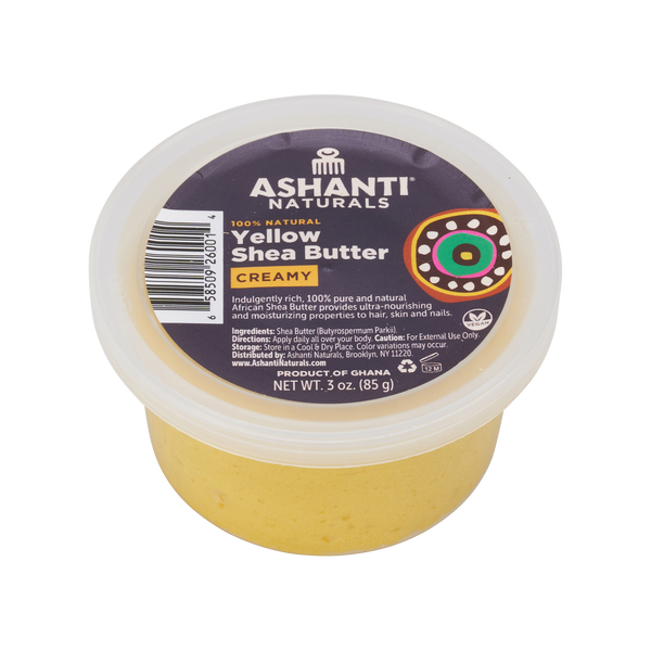 Unrefined African Soft & Creamy Shea Butter - 3oz.