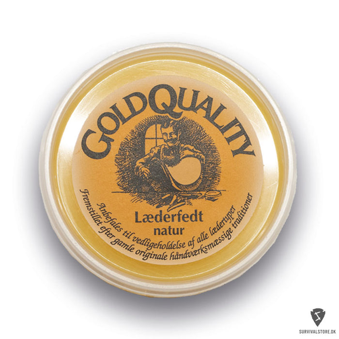 Gold Quality Læderfedt 40 ml - Natur