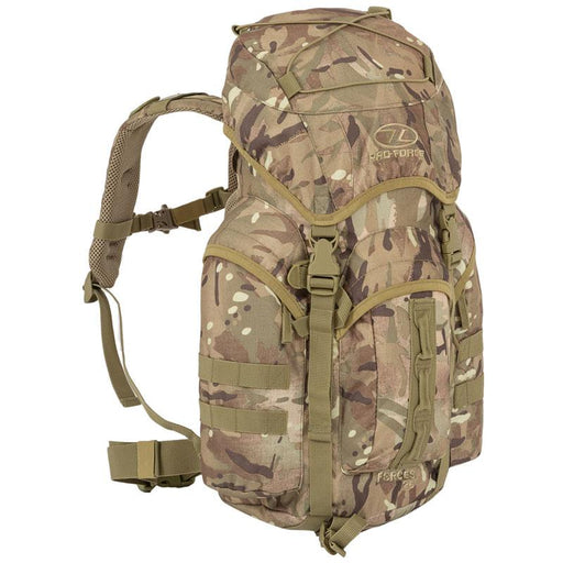 Highlander Outdoor Rygsæk - 25 liter - Forces Multicam front