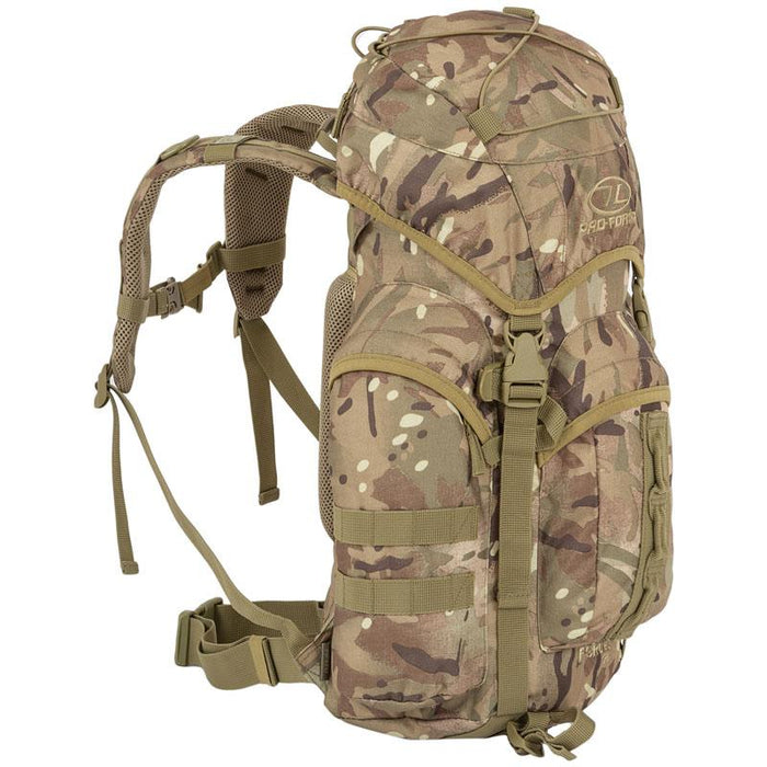 Highlander Outdoor Rygsæk - 25 liter - Forces Multicam venstre side