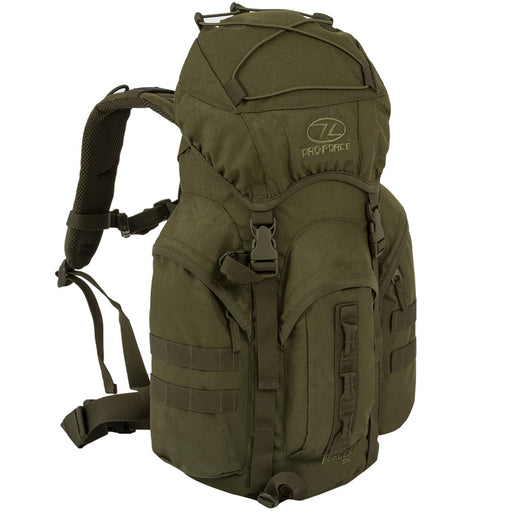 Highlander Outdoor Rygsæk - Forces 25 Liter Olive front