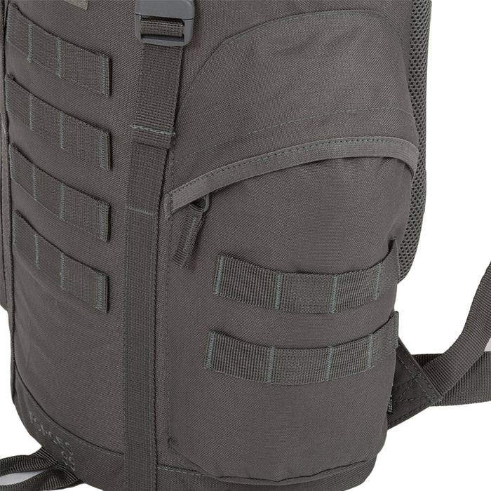 Highlander Outdoor Rygsæk - Forces 33 Liter Grey sidelommer