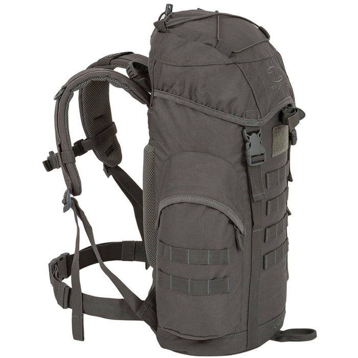 Highlander Outdoor Rygsæk - Forces 33 Liter Grey venstre side