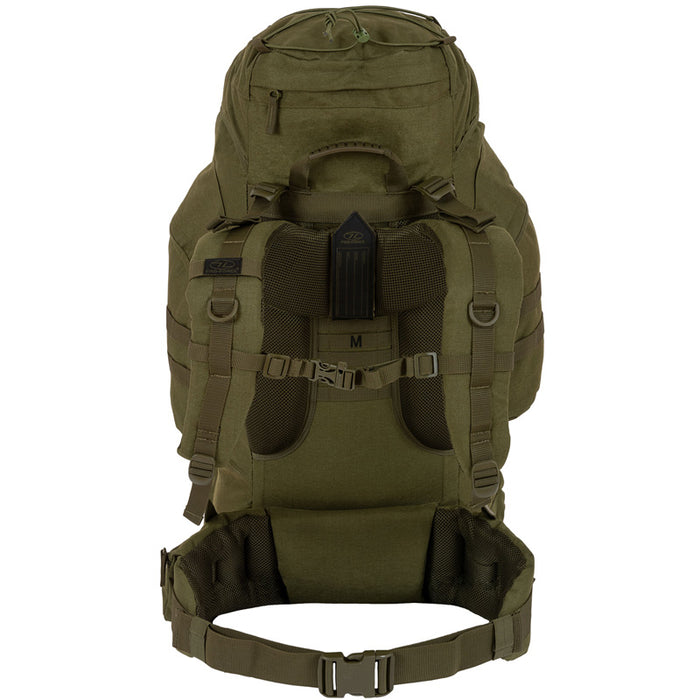 Highlander Outdoor Vandrerygsæk Olive - 66 liter - Forces