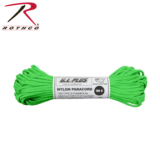 Paracord 550 Type III - Safety Green