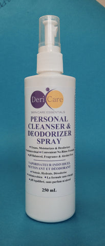 DeriCare - Personal Cleanser & Deodorizer Spray 250 mL